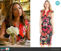 Rrp £159 TED BAKER Bismii Tropical Toucan Midi Dress Floral Size 1 UK 8 US 4