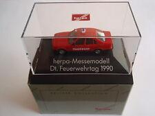 Herpa 041454 bmw 525i Deutscher feuerwehrtag 1990 1:87 nuevo embalaje original U.