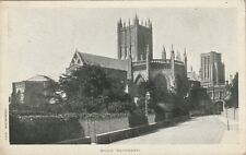 """""""Hundred Year old postcard from collection"""" Wells Catchedral"""