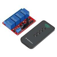 433MHz 12V 4CH Wireless Remote Control Receiver Module + 4 Key RF Transmitt