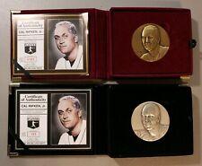 Cal Ripken Jr Highland Mint 4 Troy Oz 999 Silver & Bronze Magnum Series Coin Lot