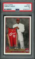 LeBRON JAMES 2003-04 Topps #221 RC Rookie (Cavaliers) (Lakers) PSA 10 GEM MINT