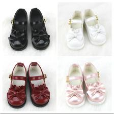 1/3SD 1/4MSD BJD Shoes Round-toe PU Strap Shoes Bow Deco DOD AOD Multi-colors