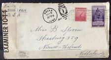 NEDERLAND; Censuurbrief vanuit PELLA, Iowa, Verenigde staten 5 febr 1941