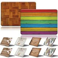 Printed Wood Patterns Hard Shell Cover Case For Apple Macbook air Pro 11 13 15''