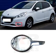 FOR PEUGEOT 208 12-18 NEW FRONT BUMPER FOG LIGHT SURROUND FRAME CHROME LEFT N/S