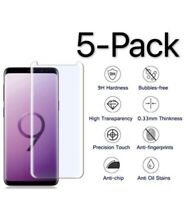 5Pack Case Friendly Clear Tempered Glass Screen Protector For Samsung Galaxy