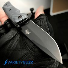 "8"" SPRING ASSISTED FOLDING KNIFE Tactical Open Assist Carbon Fiber Pocket Blade"