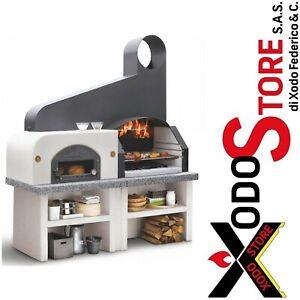Barbecue grill legna con forno grezzo PALAZZETTI MAXIME 2 - invia mail x sconto
