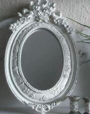 Specchi bianco ovale in legno per la decorazione della casa