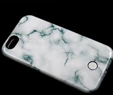 3D Marble Effect Pattern LED Light Up Selfie Phone Case Cover for iPhone7 6SPlus