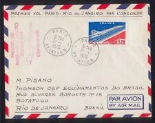 FDC Lettre AVIATION - CONCORDE - Premier Vol PARIS - RIO de JANEIRO 21 Janv.1976