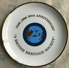 Vintage 1946-1996 British Heritage Society 50th Anniversary Wwii Memorial Plate!