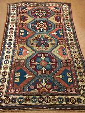 Antique  Rare 1880' Caucasian kazak Rug 5x8ft Collectors Pc