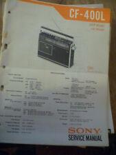 Sony CF-400L Cassette Receiver Service Manual