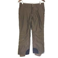 Columbia Titanium Omni-Tech Brown Herringbone Pattern Snow Pants Women's Small