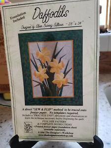 Daffodils Paper Pieced Quilt Pattern Designer's Workshop with Freezer Paper