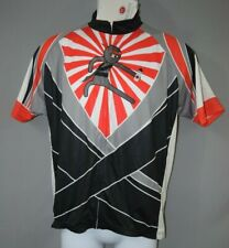 Bicidichi Ninja Bike Cycling Mountain Jersey Youth Sz Lrg Full Zipper Excellent!