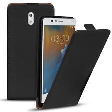 Flip Case Nokia 3 Hülle Pu Leder Klapphülle Handy Tasche Cover Schwarz