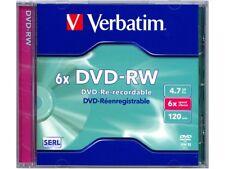 1 x Verbatim DVD-RW 4.7gb 6x 120min Blank Re-Recordable DVD In Jewel Case