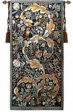 William Morris Owl Loom Woven Tapestry 58 x 114 cm Jacquard Rustic Victorian