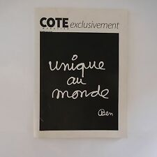 COTE MAGAZINE exclusivement UNIQUE AU MONDE BEN OCTOBRE 2010 N°188