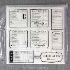 Close to my Heart D1421 Cherish the Moment CTMH Acrylic Stamps Set NEW Checklist