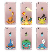Funda Carcasa Pokemon Transparent Case Pikachu For iPhone 6 6s 7 Plus 5 SE