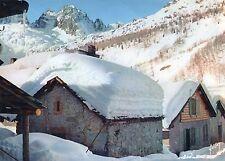 Alte Postkarte - Village montagnard sous la neige