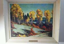 Signed Original L. Scott Brewster Canada acrylic painting 1960 Canadian Autumn
