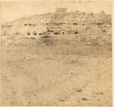 D F Mitchell Stereoview – Aztec Mound, Mouth of Oak Creek in Arizona 1870s