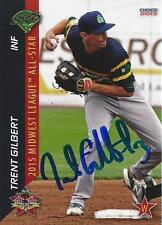 Trent Gilbert Beloit Snappers 2015 Midwest League All Star Game Signed Card