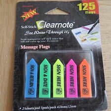 Clearnote Semi-Transparent Self-Stick Notes - 125 Flags