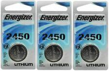 3 x Super Fresh Energizer CR2450 ECR 2450 3v LITHIUM Coin Cell Battery Exp. 2030