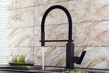 Bathroom Kitchen Sink Faucet Swivel Spout Mixer Square Base Basin Tap Deck Mount
