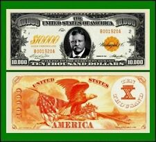 15 Factory Fresh Novelty $10,000 Gold Certificate Bills