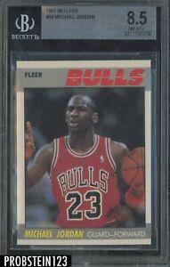 1987-88 Fleer Basketball #59 Michael Jordan Chicago Bulls HOF BGS 8.5 NM-MT+