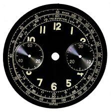 Orig. Vintage NOS Landeron L48 Chronograph / Chrono Wristwatch Dial, Swiss 1940