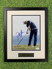Dustin Johnson Signed 8x10 Jsa Auto Custom Framed PGA Golf