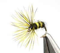 6ct Tenkara Flies - All New Hachi Kebari pattern Hook #12