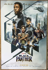 BLACK PANTHER MOVIE POSTER DS ORIGINAL INTL FINAL Ver B 27x40 CHADWICK BOSEMAN