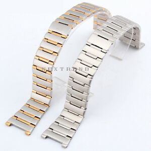 Solid Steel Strap Bracelet Replacement Watch Band For Men's Omega Constellation