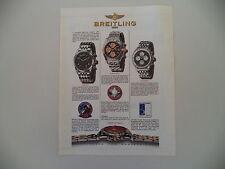advertising Pubblicità 1997 BREITLING PREMIER/CHRONOMAT/TWINSIXTY