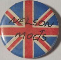 "NELSON MODS Union Jack Vtg 1980`s Button Pin/Badge 25mm-1""# mod.103"