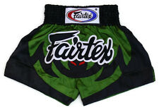 Fairtex Muay Thai Boxing Shorts Black Green Satin Bs0613 Animal collection Bat