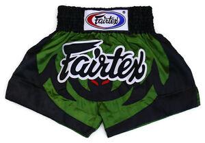 Fairtex Muay Thai Boxing Shorts Black Green Satin BS0613 Animal collection Bat