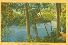 Stockton Springs,ME. A 1945 Riverside Greeting from Stockton Springs
