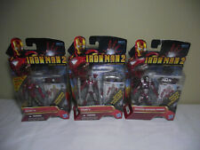 Iron Man 2 { Lot of 3 } Figures Concept & Movie Series Hasbro New Factory Sealed