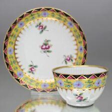 Wallendorf um 1800: Koppchen, Rosen, gebrocher Stab, Tasse, Thüringen, tea cup