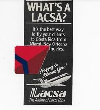 LACSA THE AIRLINE OF COSTA RICA DIRECT 727-200 WHAT'S A LACSA? 1982 AD